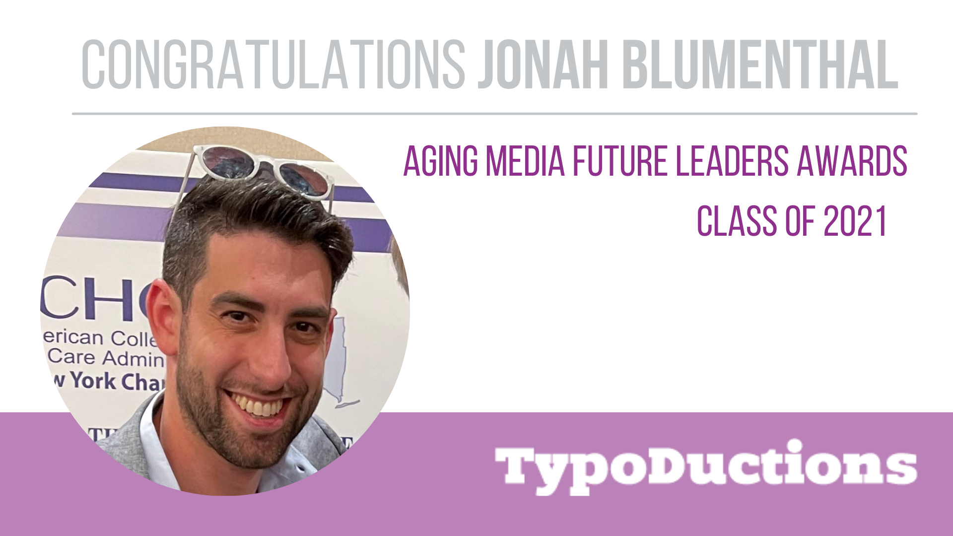 Jonah Blumenthal Recognized as a Future Leader by Aging Media!